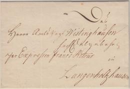 """Preussen - """"Per Expressen Franco Retour"""" Eilbrief N. Langenholzhausen Ca. 1800 - Tour Et Taxis"""