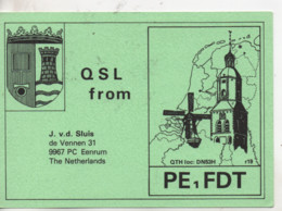 Cpa.Cartes QSL.PE1FDT.The Nederlands.1981.to PAOKA - Radio Amateur