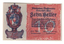 LIECHTENSTEIN10HELLER1920P1UNC.CV. - Liechtenstein