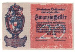 LIECHTENSTEIN20HELLER1920P2UNC.CV. - Liechtenstein