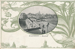 Maastricht Maasbrug Art Nouveau Card Butterfly Dragonfly Tram.  Used To Mme Sautier Paris - Maastricht