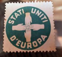 ERINNOFILI VIGNETTE CINDERELLA - STATI UNITI D'EUROPA - Erinnofilie
