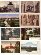 57123/8 Ak Zeitz Krypta, Tiergarten, Rathaus, Totalansicht Usw. Um 1920 - Sin Clasificación