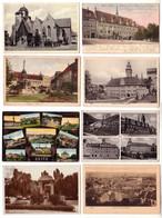 57136/8 Ak Zeitz Altmarkt, Michaeliskirche, Rathaus Usw. Um 1910 - Sin Clasificación