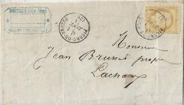 SAONE ET LOIRE PIERRE DE BRESSE TYPE 16 CERES 1 JANVIER 1874 - 1849-1876: Periodo Classico