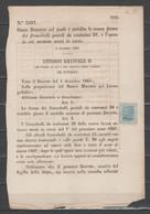 ITALIA 1867 - Saggio Effigie 20 C. - Su Regio Decreto          (g7101) - Neufs
