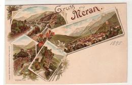 59665 Ak Lithographie Gruss Aus Meran In Südtirol Um 1900 - Non Classés