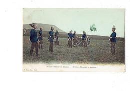 Cpa Militaria - ARTILLERIE ALLEMANDE EN MANOEUVRE - 1907 - SOLDATS ALLEMANDS - CASQUE à POINTE Porte Char - G Sch 9021 - Personajes
