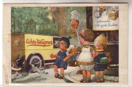 "61102 Reklame Ak Echte Wagner ""Hund Klaut Kind Das Butterbrot"" 1928 - Publicidad"
