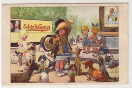 """61101 Reklame Ak Echte Wagner """"Kind Verteidigt Butterbrot"""" Um 1930 - Publicidad"""