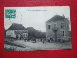 """38 - ST VICTOR DE MORESTEL - """" LA PALCE """" - ATTELAGES, BELLE ANIMATION..."""" RARE """" ---- - Other Municipalities"""