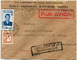 VIET-NAM LETTRE PAR AVION A ENTETE DU HAUT COMMISSARIAT DE FRANCE POUR L'INDOCHINE...DEPART HA-NOI 30-11-1951 VIET-NAM.. - Vietnam