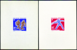 Polynésie épreuves De Luxe N° 22 /23 Jeux Du Pacifique Sud (2 Valeurs) - Geschnitten, Drukprobe Und Abarten
