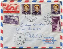 VIET-NAM LETTRE PAR AVION DEPART SAIGON 20-11-1952 VIET-NAM POUR LA FRANCE - Vietnam