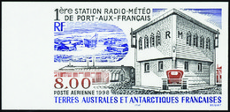 Terres Australes Non Dentelés Poste Aérienne N° 147 Station Radio-météo De Port-aux-Français** - Geschnitten, Drukprobe Und Abarten