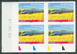 Coin Daté Adhésif Anniversaire TGV 603 Neuf** - 2010-....