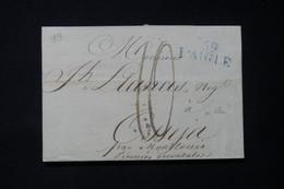 FRANCE - Marque Postale En Bleu De Laigle Sur Lettre Pour Osséja En 1819 - L 84634 - 1801-1848: Précurseurs XIX