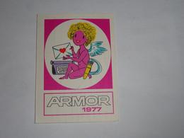Mini Calendrier Armor 1977 Mini-calendar Kalendar Calendario Ange Angel - Oggetti 'Ricordo Di'