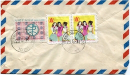 VIET-NAM LETTRE PAR AVION AVEC AFFRANCHISSEMENT AU DOS DEPART THANH QUAN VIETNAM 29-8-81 POUR LA FRANCE - Vietnam