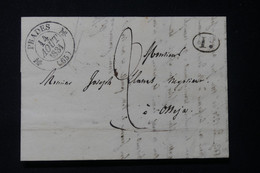 FRANCE - Cachet à Date Avec Fleurons De Prades Sur Lettre Pour Osséja En 1831 - L 84636 - 1801-1848: Précurseurs XIX