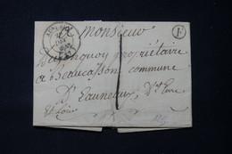 FRANCE - Cachet à Date De Auneau Sur Lettre Avec Cachet De Facteur Boitier F Pour Auneau En 1845 - L 84637 - 1801-1848: Précurseurs XIX