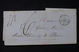 FRANCE - Lettre De Saint Mards En Othe Pour Paris En 1847 - L 84639 - 1801-1848: Précurseurs XIX