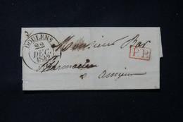 FRANCE - Lettre De Doulens En PP Pour Amiens En 1842 - L 84640 - 1801-1848: Précurseurs XIX