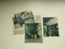 """Origineel Knipsel ( A 542 ) Uit Tijdschrift """" De Stad """"  1932 :  Brand   Pompiers   Pompier   Antwerpen - Zonder Classificatie"""