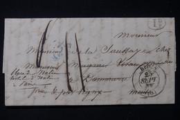 FRANCE - Lettre Cachetée De Blois Pour Dammarie Et Redirigé Vers Paris En 1837 - L 84647 - 1801-1848: Précurseurs XIX