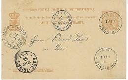 LUXEMBOURG - BISSEN - TRES RARE - POSTES RELAIS NR:2 De BISSEN - Sur Allégorie De 1883 - Ganzsachen