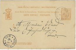 LUXEMBOURG - STRASSEN - TRES RARE - POSTES RELAIS NR:10 De STRASSEN - Sur Allégorie De 1883 - Ganzsachen