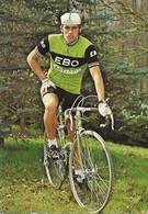 CARTE CYCLISME WILFRIED FREYBROECK SIGNEE TEAM EBO - CINZIA 1976 - Cycling