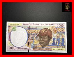 "CENTRAL AFRICAN STATES  ""C""  CONGO  5.000 5000 Francs  2000  P. 104 C  UNC- - Central African States"