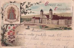 SUISSE / SWITZERLAND / EINSIEDELN / SCHLOSS 1906 CARTE LITHO KARTE - SZ Schwyz