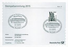 01692) BRD - ⨀-Karte Mi 2301 A - SoST Vom 22.05.2015 In 54290 Trier, Moselfahrt MS Princesse Marie-Astrid - Machine Stamps (ATM)