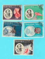 Panama Lot De 11 Timbres Jules Verne L'espace Sir Winston Churchill, San Marco En Orbite - Panamá
