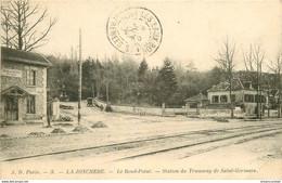 M. 92 LA JONCHERE. Le Rond-Point Station Du Tramway De Saint-Germain 1904 - Rueil Malmaison