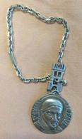 Bracelet - Médaillon De Saint Vincent De Paul Et De La Médaille Miraculeuse. Argent 750. Bon état. - Non Classificati