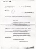 COURRIER Retardé Suite à Agression 24 11 2002. Voir Scans. - Curiosidades: 2000-09 Cartas