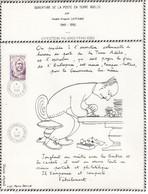SOUVENIR OUVERTURE DE LA POSTE DE TERRE ADELIE TP 111 OBL. 1 1 85 Avec Dessin D'après Luc Marie Bayle Voir Scan - Storia Postale