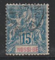NOSSI BE - N°32 Obl (1894) 15c Bleu - Gebraucht