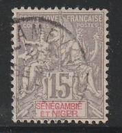 Sénégambie Et Niger - N°6 Obl (1903) 15c Gris - Used Stamps