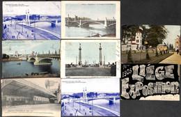 Liège - Lot 12 Cartes (un Peu De Tout, Beaucoup Expo) (petit Prix) - Liege