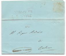 DA PALERMO A CORLEONE - 21.4.1842, - 1. ...-1850 Prephilately