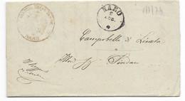 DA NARO A CAMPOBELLO DI LICATA - 7.7.1874. - 1. ...-1850 Prephilately