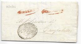 DA GIRGENTI A CAMPOBELLO DI LICATA - 29.12.1846. TRAMITE REAL SERVIZIO. - 1. ...-1850 Prephilately