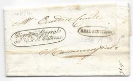 DA CATANIA A MASSANNUNZIATA - 16.8.1827 - TRAMITE REAL SERVIZIO. - 1. ...-1850 Prephilately