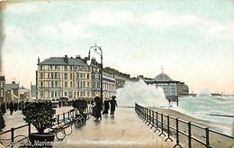 Pays - Royaume-Uni - Eastbourne - Marine And Royal Parades - Animée - Colorisée - CPA - Oblitération Ronde De 1908 - Voi - Eastbourne