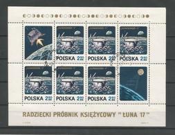 Poland 1971 Space Luna 17 S/S Y.T. BF 54  (0) - Blocks & Sheetlets & Panes