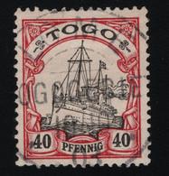 1900 Kaiseryacht Mi DR-TG 13 Sn TG 13 Yt TG 13 Sg DR-TG G13 Gest. Used O - Colonie: Togo